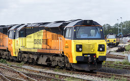 Modern Freight Engine Royalty Free Stock Photography