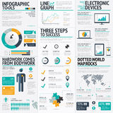 Modern fresh colored business infographic vector Royalty Free Stock Photo
