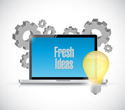 Modern and fresh ideas concept illustration. Design graphic isolated over white Royalty Free Stock Image