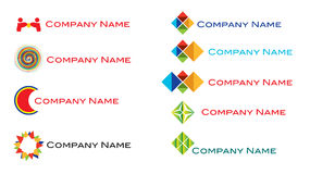 Modern fresh logo set stock photography