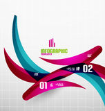 Modern fresh wave business infographics Stock Photography