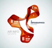 Modern fresh wave business infographics Stock Image