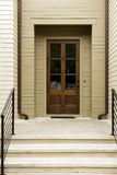 A modern front door entryway Royalty Free Stock Photography