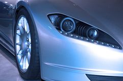 Modern Front Headlight Assembly Royalty Free Stock Images
