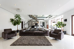 Modern front room Stock Image
