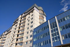 Modern fronted building. Prospective view to new building Royalty Free Stock Images