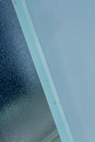 Modern frosted glass door. Close up of modern frosted glass door Stock Photos