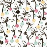 Modern fruit naadloos patroon Achtergrond met kers Groot voor jonge geitjesstof, textiel, enz. Vector illustratie Royalty-vrije Stock Afbeelding