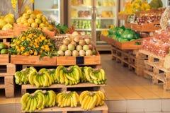 Modern fruit supermarket Royalty Free Stock Photos