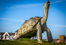 Modern fun sculpture on seafront at South Shields Royalty Free Stock Image