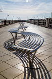 Modern fun sculpture seating on seafront at South Shields Royalty Free Stock Photos