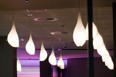 Modern funky light fittings. Detail of modern funky interior light fittings Royalty Free Stock Photo