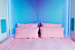 Modern funny colorful modern bed Stock Image