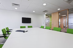 Modern furnished boardroom royalty free stock photography