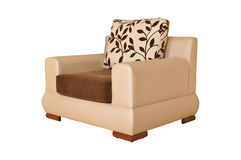 Modern furniture. Beige modern furniture on white background Royalty Free Stock Image