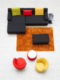 Modern furniture. Living-room with the modern furniture Stock Photography