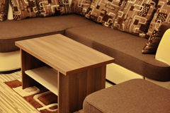 Modern furniture. In room - detail stock photos
