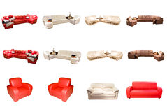 Modern furniture. Over white background Royalty Free Stock Photos