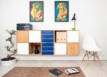 Modern furniture and art Stock Image