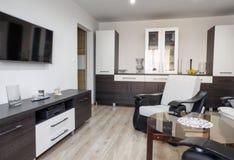 Modern furniture in livingroom Stock Photo