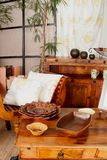 Antique wooden furniture Royalty Free Stock Photo