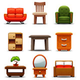Modern Furniture. Refers to furniture produced from the late 19th century through the present that is influenced by modernism. Post-World War II ideals of Stock Photos