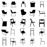 modern furniture silhouette set Royalty Free Stock Image