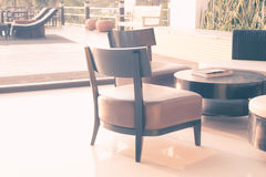 Modern furniture. In soft color filter Royalty Free Stock Photos