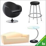 Modern furniture vector 6. Modern furniture illustration vector 6