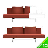 Modern furniture vector Royalty Free Stock Images