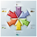 Modern Fusion Arrows Three Dimension Polygon Business Infographi Stock Photo