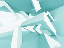 Modern Futuristic Abstract Architecture Background. 3d Render Illustration Royalty Free Stock Photography