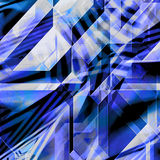 Modern futuristic abstract background of polygonal intersecting shapes. Blue, white and black background of prisms and triangles Royalty Free Stock Photos