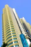 Modern futuristic building. The picture shows a mdern high rise luxury condominium near completion Royalty Free Stock Photography
