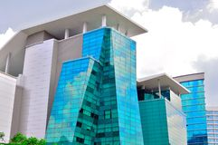 Modern futuristic building. The picture shows a modern high rise government offices in Malaysia Royalty Free Stock Photo