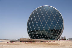 A modern futuristic building, Abu Dhabi, UAE Royalty Free Stock Photo