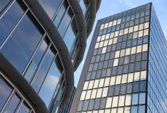 Modern futuristic buildings stock image
