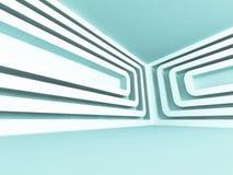 Modern Futuristic Design Empty Interior Architecture Background. 3d Render Illustration Royalty Free Stock Photo