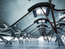 Modern futuristic empty abstract interior Stock Images