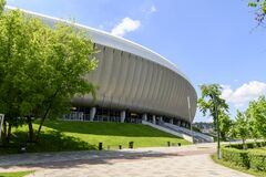 Modern Futuristic Minimalist Sports And Events Stadium Royalty Free Stock Image