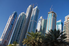 Modern and futuristic skyscrapers in Dubai Royalty Free Stock Images