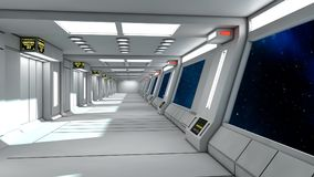 Modern and futuristic spaceship corridor Stock Images