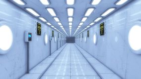 Modern and futuristic spaceship corridor Stock Photo