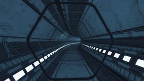 Modern and futuristic spaceship corridor Royalty Free Stock Photos