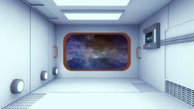 Modern and futuristic spaceship corridor Stock Images