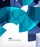 Modern futuristic techno abstract composition Royalty Free Stock Photography