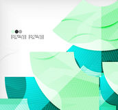 Modern futuristic techno abstract composition Stock Photography