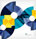 Modern futuristic techno abstract composition Stock Images