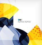 Modern futuristic techno abstract composition Stock Photo