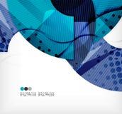 Modern futuristic techno abstract composition Stock Image